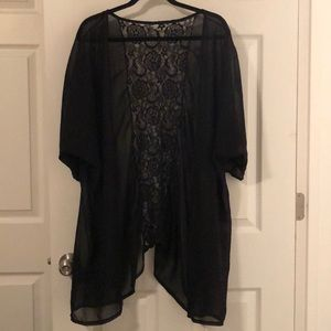 Open front bathing suit cover up